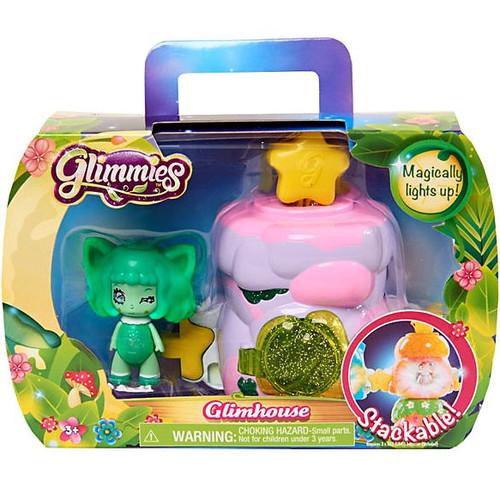 Glimmies Purple Glimhouse & Green Glimmie Figure Set