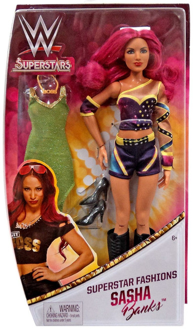 WWE Wrestling Superstars Fashions Sasha Banks 12-Inch Doll