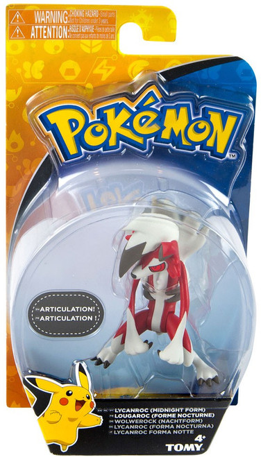 Pokemon Action Pose Lycanroc 3-Inch Mini Figure [Midnight Form]