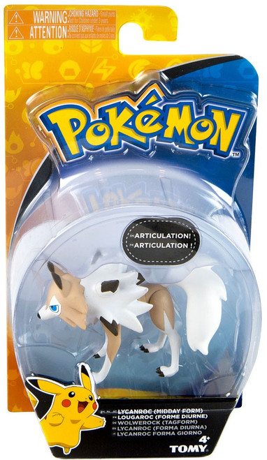 Pokemon Action Pose Lycanroc 3-Inch Mini Figure [Midday Form]