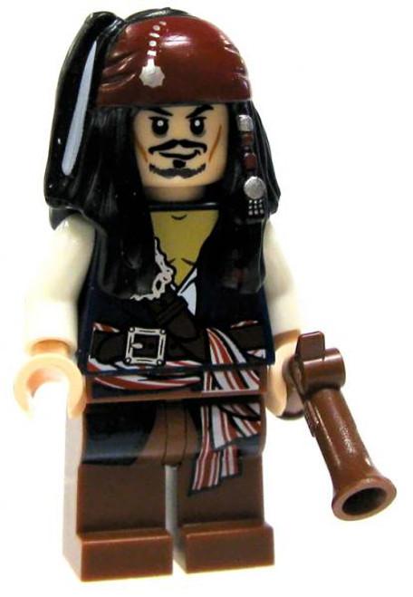 LEGO Pirates of the Caribbean Captain Jack Sparrow Minifigure [Flintlock Pistol Loose]