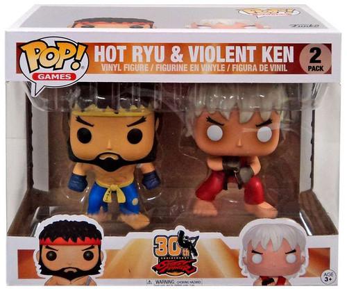Funko Street Fighter POP! Games Hot Ryu & Violent Ken Exclusive Vinyl Figure