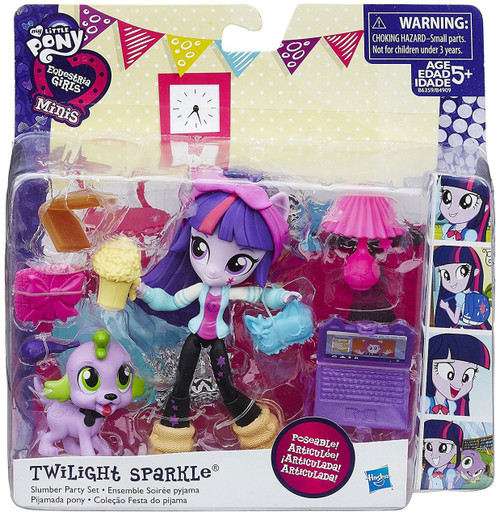 My Little Pony Equestria Girls Minis Twilight Sparkle Slumber Party Figure Set
