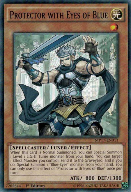 YuGiOh 2017 Mega-Tin Mega Pack Common Protector with Eyes of Blue MP17-EN011