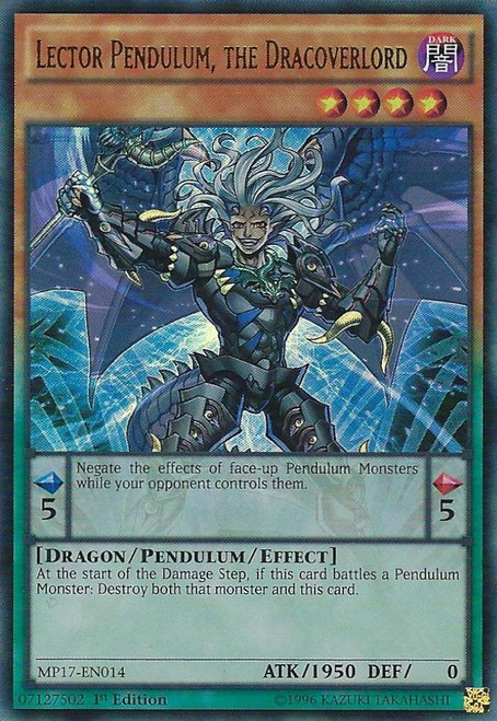 YuGiOh 2017 Mega-Tin Mega Pack Ultra Rare Lector Pendulum, the Dracoverlord MP17-EN014