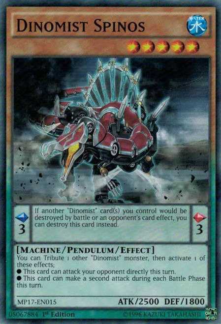 YuGiOh 2017 Mega-Tin Mega Pack Common Dinomist Spinos MP17-EN015