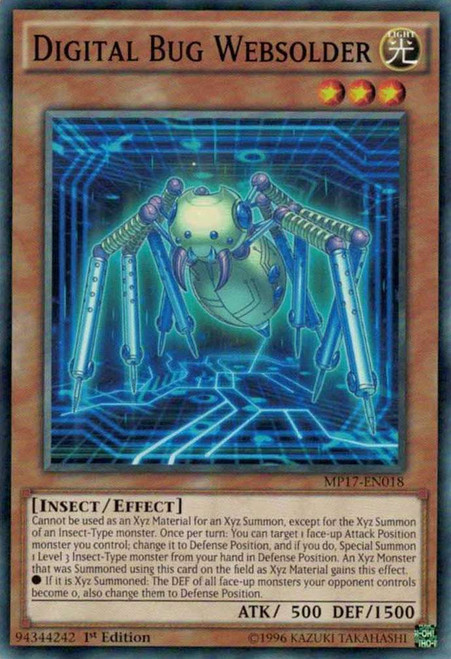YuGiOh 2017 Mega-Tin Mega Pack Common Digital Bug Websolder MP17-EN018