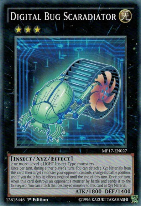 YuGiOh 2017 Mega-Tin Mega Pack Common Digital Bug Scaradiator MP17-EN027