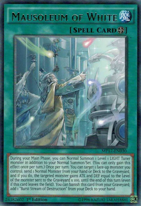YuGiOh 2017 Mega-Tin Mega Pack Rare Mausoleum of White MP17-EN030