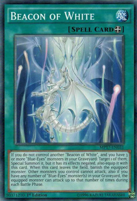 YuGiOh 2017 Mega-Tin Mega Pack Common Beacon of White MP17-EN031