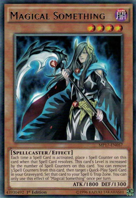 YuGiOh 2017 Mega-Tin Mega Pack Rare Magical Something MP17-EN057