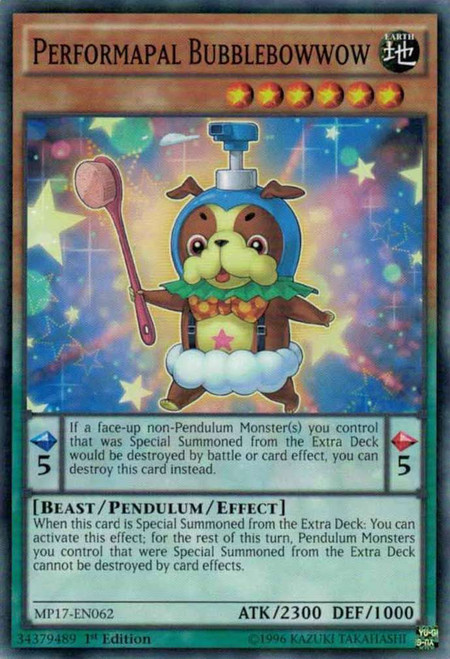 YuGiOh 2017 Mega-Tin Mega Pack Common Performapal Bubblebowwow MP17-EN062