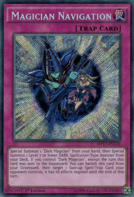 YuGiOh 2017 Mega-Tin Mega Pack Secret Rare Magician Navigation MP17-EN110