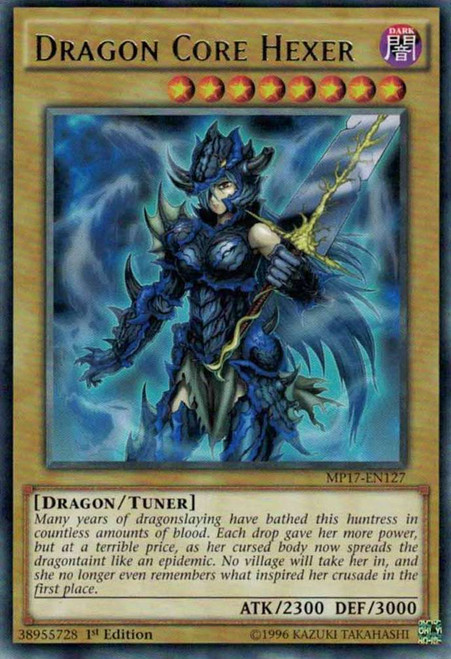 YuGiOh 2017 Mega-Tin Mega Pack Rare Dragon Core Hexer MP17-EN127