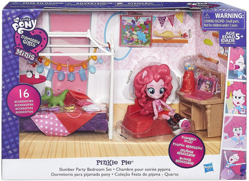 My Little Pony Equestria Girls Minis Pinkie Pie Slumber Party Bedroom Set Playset