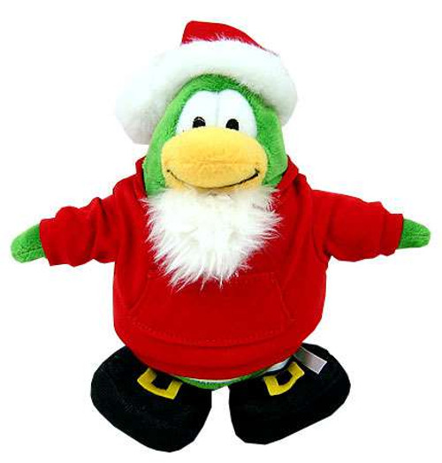 Disney Club Penguin Santa 6.5-Inch Plush Figure [Version One Includes Coin with Code!]