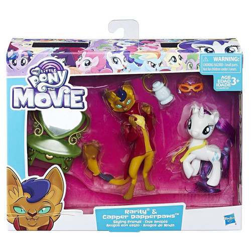 My Little Pony The Movie Rarity & Capper Dapperpaws Styling Friends Figure Set