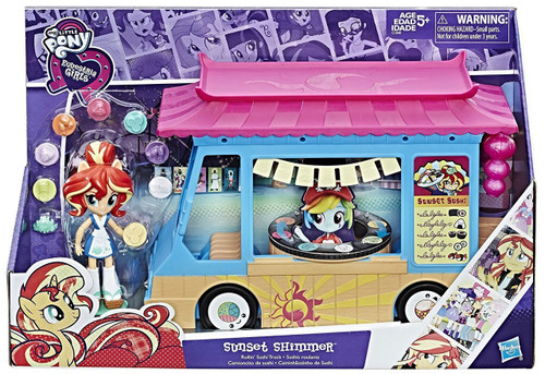 My Little Pony Equestria Girls Minis Sunset Shimmer Rollin Sushi Truck Playset
