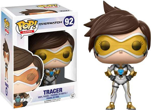 Funko Overwatch POP! Video Games Tracer Exclusive Vinyl Figure #92