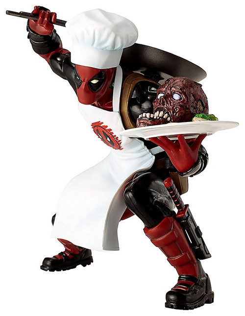 Marvel ArtFX+ Chef Cooking Deadpool Statue