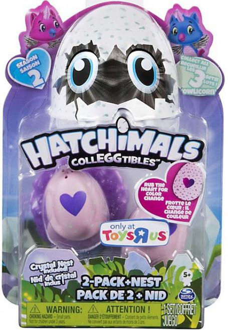 Hatchimals Colleggtibles Season 2 Owlicon Exclusive 2-Pack & Nest