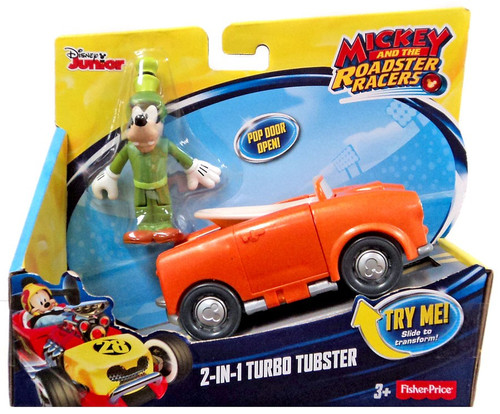 Fisher Price Disney Mickey & Roadster Racers 2-in-1 Turbo Tubster Vehicle & Figure