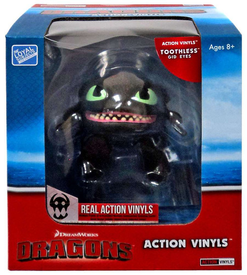How to Train Your Dragon Action Vinyls Toothless Vinyl Figure [Glow-in-the-Dark Eyes / Teeth]