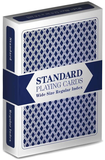 Playing Cards Standard Wide Size Regular Index Playing Cards [Blue]