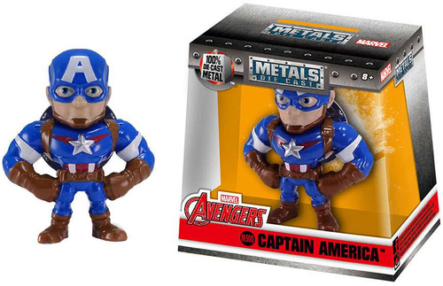 "Marvel Avengers Metals Captain America Action Figure [2.5""]"