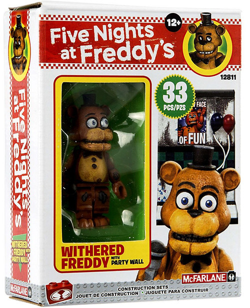 McFarlane Toys Five Nights at Freddy's The Party Wall Micro Construction Set [Withered Freddy]