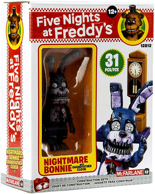 McFarlane Toys Five Nights at Freddy's Grandfather Clock Micro Construction Set [Nightmare Bonnie]