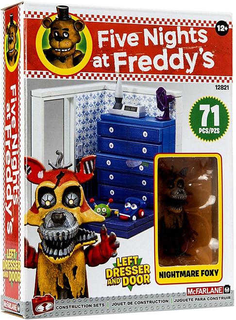 McFarlane Toys Five Nights at Freddy's Left Dresser & Door Small Construction Set [Nightmare Foxy]
