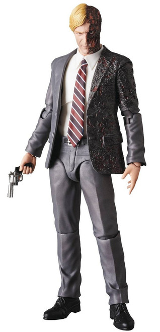DC The Dark Knight MAFEX Harvey Dent (Two-Face) Action Figure