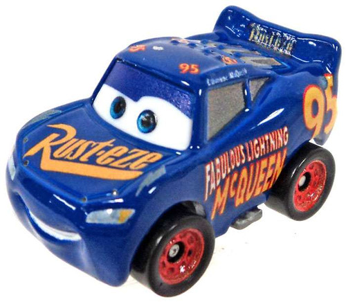 Disney Cars Die Cast Mini Racers Fabulous Lightning McQueen Car [Loose]