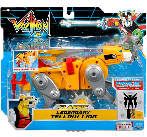 Voltron 84 CLASSIC Legendary Yellow Lion Combinable Action Figure