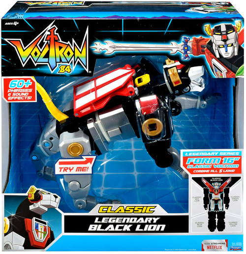 Voltron 84 CLASSIC Legendary Black Lion DELUXE Combinable Action Figure