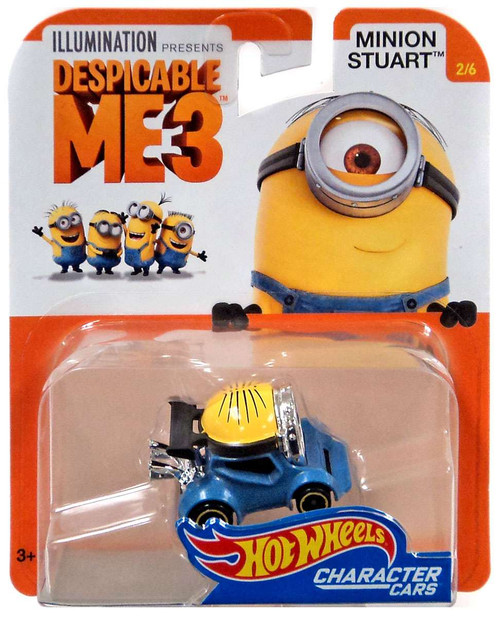 Hot Wheels Despicable Me 3 Minion Stuart Diecast Character Car #2/6