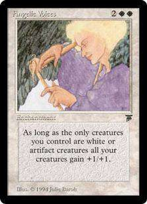 MtG Legends Rare Angelic Voices [Heavily Played]