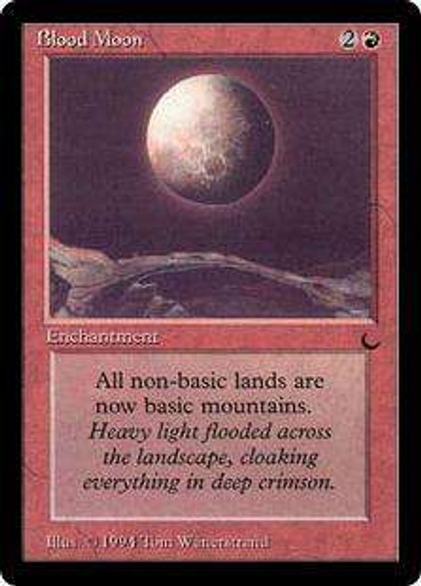 MtG The Dark Rare Blood Moon [Slightly Played]