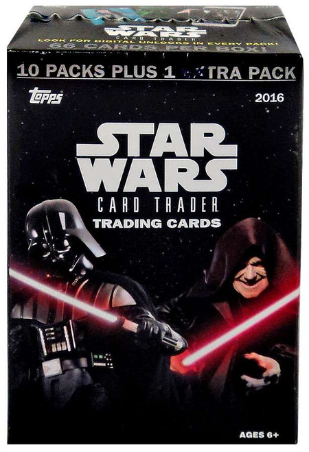 Star Wars Topps 2016 Card Trader Trading Card BLASTER Box [10 Packs + 1 Extra Pack!]
