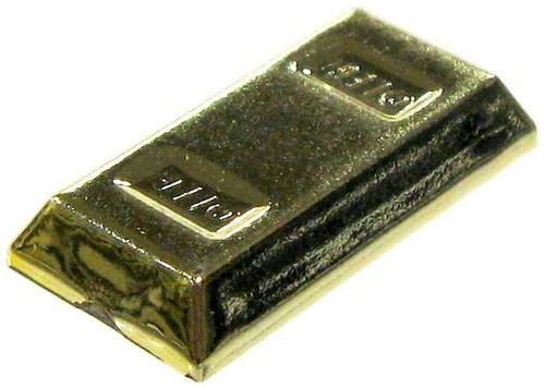 LEGO Chrome Gold Bar Accessories [Loose]