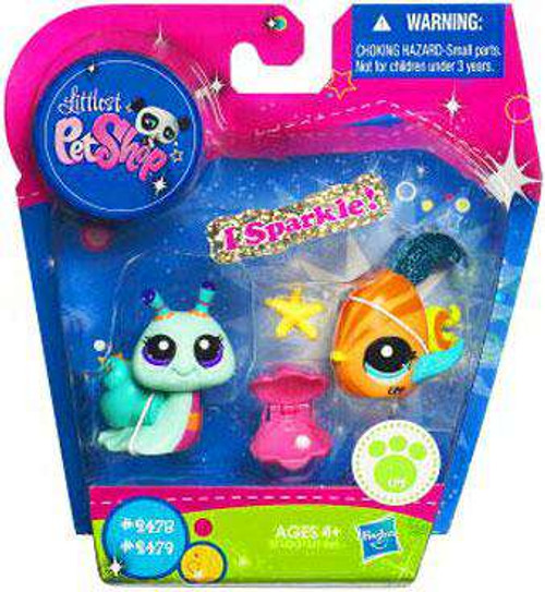 Littlest Pet Shop Fish & Snail Exclusive Figure 2-Pack [Damaged Package]
