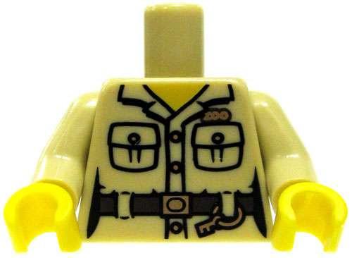 "LEGO Safari Shirt with Pockets, Belt, Key Ring & ""Zoo"" Logo Torso [Loose]"