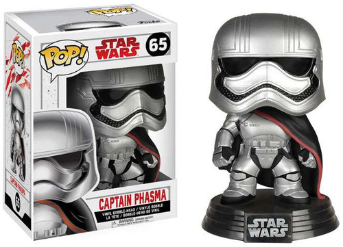 Funko The Last Jedi POP! Star Wars Captain Phasma Vinyl Bobble Head #65