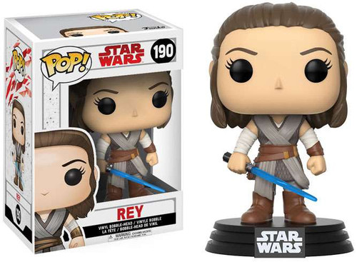 Funko The Last Jedi POP! Star Wars Rey Vinyl Bobble Head #190
