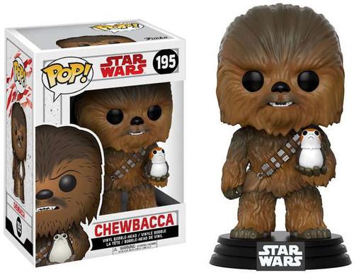 Funko The Last Jedi POP! Star Wars Chewbacca Vinyl Bobble Head #195 [with Porg]