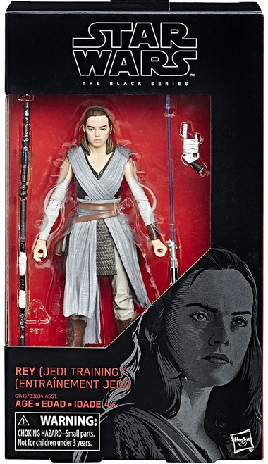 Star Wars The Last Jedi Black Series Wave 23 Rey Action Figure [Jedi Training]