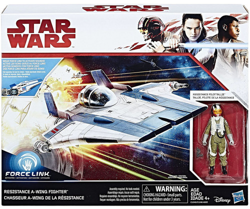 Star Wars The Last Jedi Force Link Resistance A-Wing Fighter & Pilot Tallie Vehicle