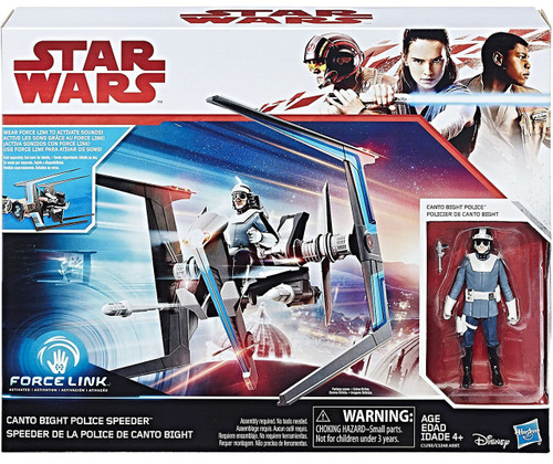 Star Wars The Last Jedi Force Link Canto Bight Police Speeder & Canto Bight Police Vehicle