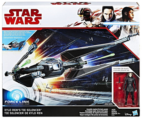 Star Wars The Last Jedi Force Link Kylo Rens TIE Silencer & Kylo Ren Vehicle [TIE Pilot]